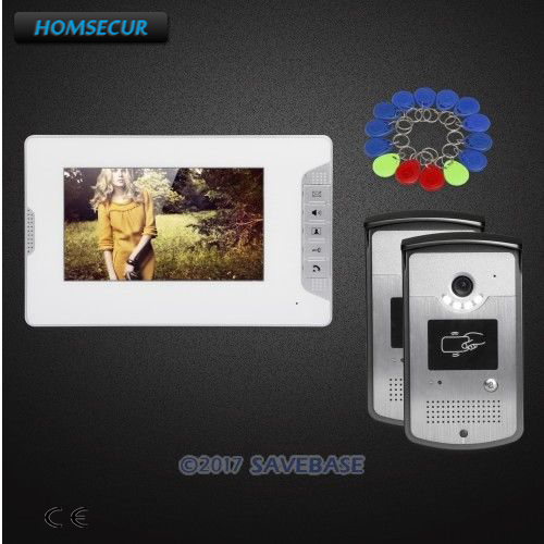 HOMSECUR 7inch Wired Video Door Intercom System Electric Lock Supported for Home Security homsecur ship from ru 4 3inch video door intercom system electric lock supported for home security 1v2