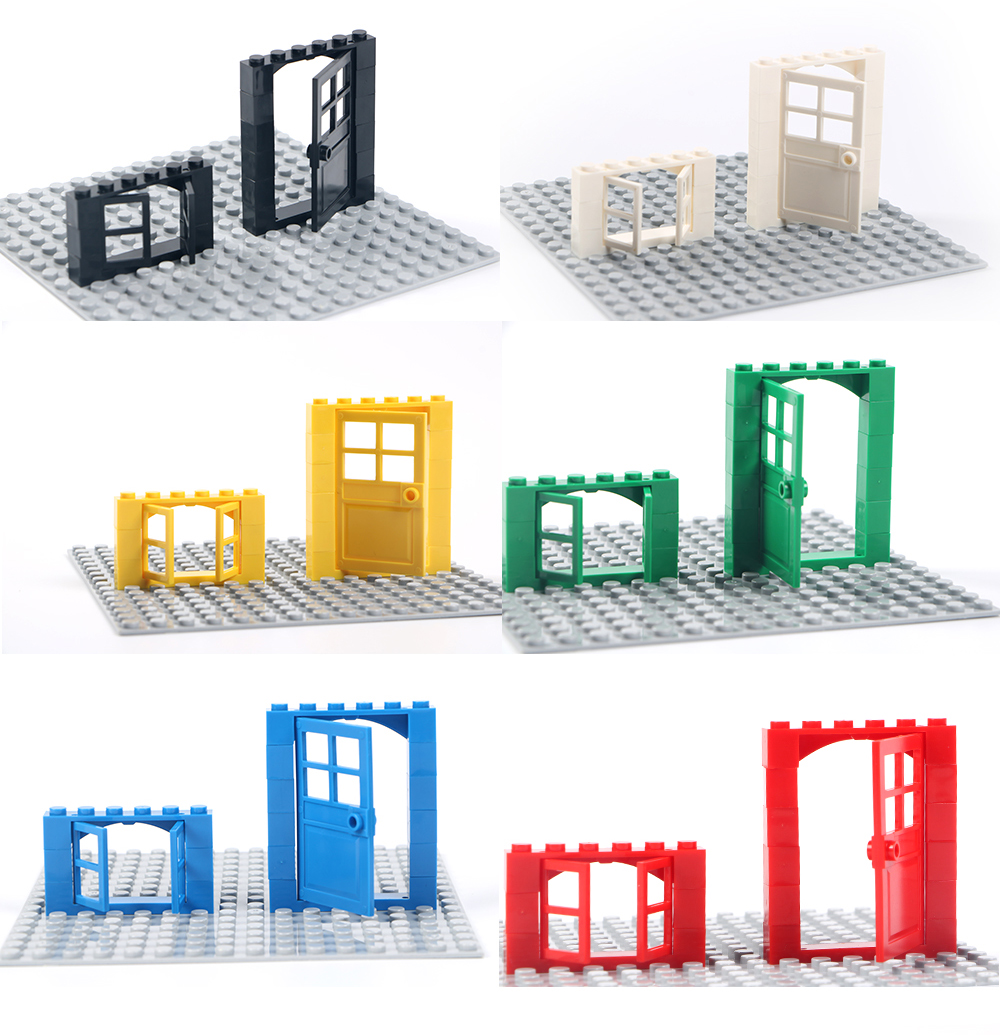 102pcs Door & Window Brick DIY House Building Blocks