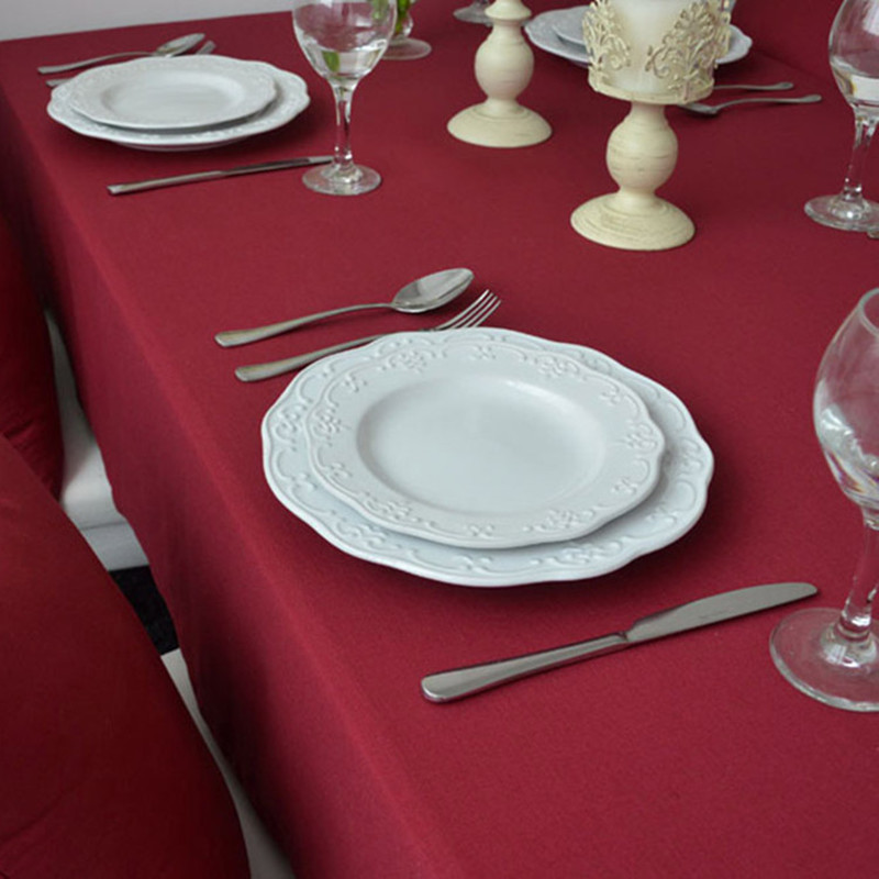 Free Shipping Red Tablecloths European Style Nice Quality For Weddings  Hotel Kitchen Table Cover Home Decor