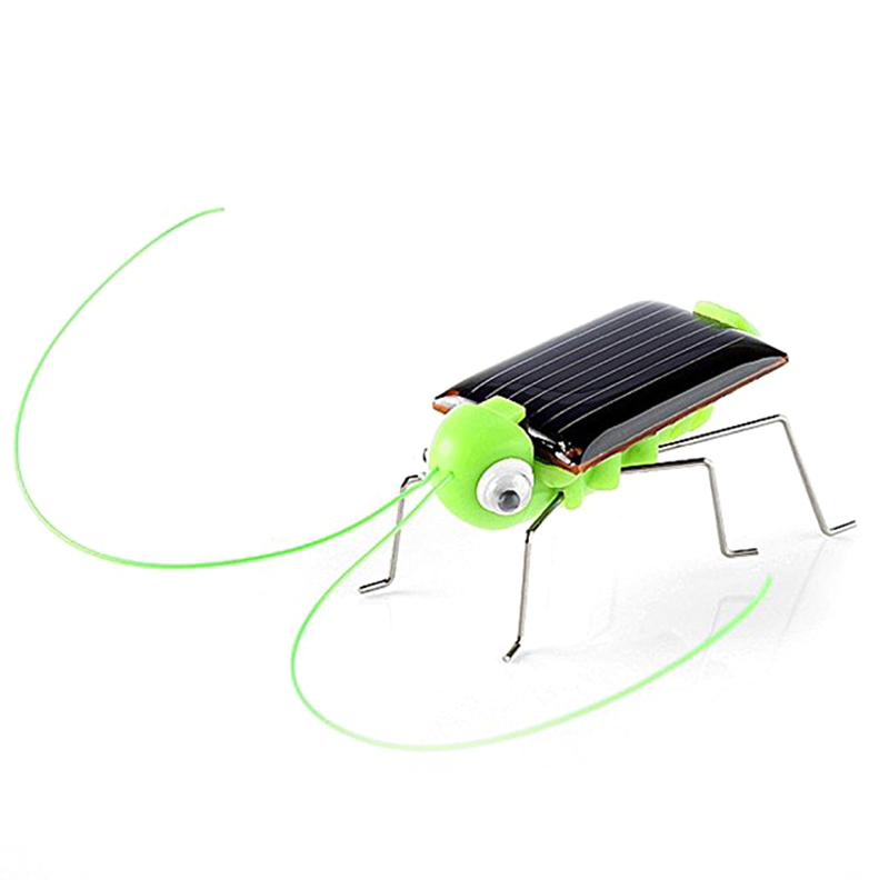 Novelty kid Solar Energy Powered Spider cockroach Power Robot Bug Grasshopper educational gadget Toy for children