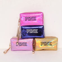 eTya Fashion Waterproof Laser Cosmetic Bags Women Neceser Make Up Bag PVC Pouch Wash Toiletry Bag Travel Organizer Case(China)