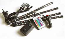4×30 см LED RGB авто интерьер свет knight rider сканер ногой света с пультом дистанционного управления бесплатная доставка
