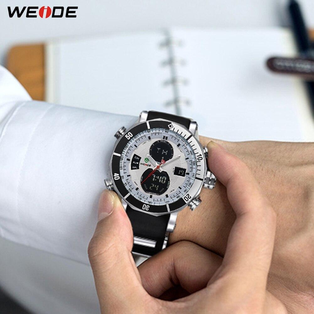 WEIDE Мужчины Спортивные Часы Водонепроницаемые Военная Кварц Цифровые Часы Будильник Секундомер Dual Time Зоны Новый relogios masculinos