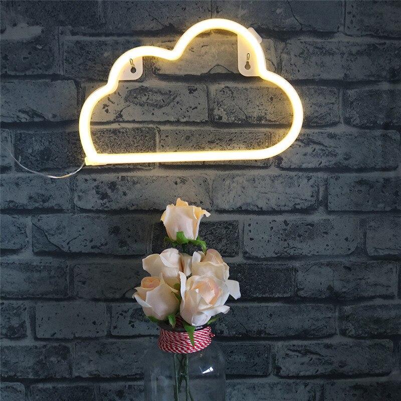 Jiaderui Cloud Baby Night Light Neon Wall Lamp New Year Christmas Wedding Party b Decoration Light USB Power