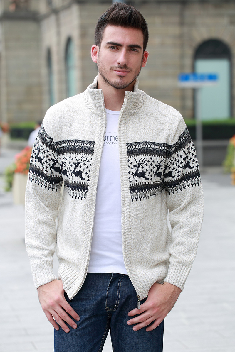 e1296a147aa246 DEER men knitwear pull mens cardigan sweater christmas sweater mens thick  long sleeve top long cardigan men-in Sweaters from Men's Clothing on ...