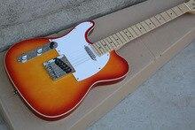 China Guitar Factory Custom High Quality Custom Cherry Sunburst TL Electric Guitar left hand Guitar 1027