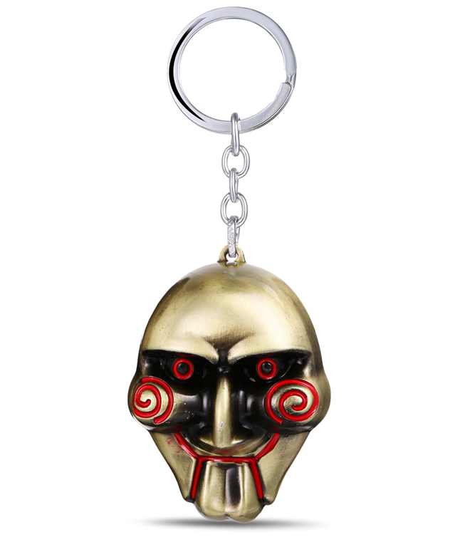 MS JEWELS Moive Fans Gifts Jewelry SAW Key Chain Killer Mask Bronze Metal Key Rings For Women Men Chaveiro