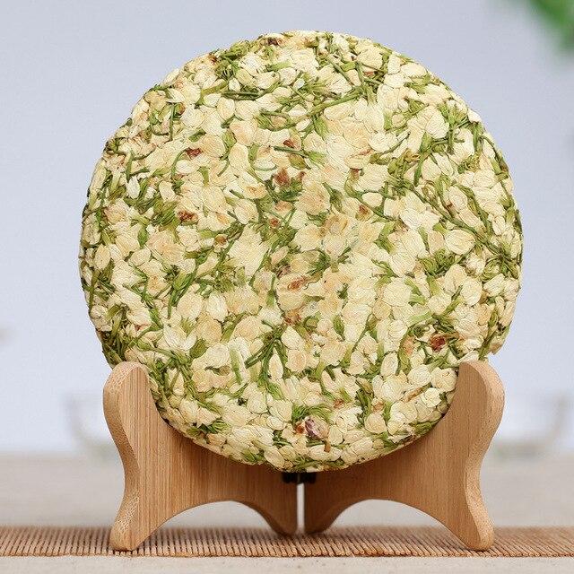 Юньнань Травяные Чистой Компресс Жасмин Пуэр Круглый Чай Здравоохранение Похудения Органа 200 г