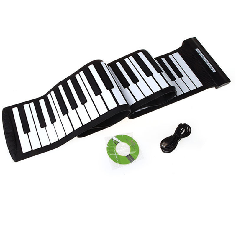 Electronic Piano Portable Silicon USB Port 88 Keys Flexible Electronic Piano Keyboard MIDI Music with Loud Speaker