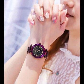Fashion 2019 Magnetic Starry Sky Watches Women For Luxury Brand Female Clock Ladies Wrist Watch Relogio Feminino zegarek damski 4