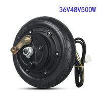 Electric Bicycle Motor Wheel 36V 48V 500W Hub Motor Scooter Brushless Toothless Electric Scooter Hub Wheel Motor 8 Inch