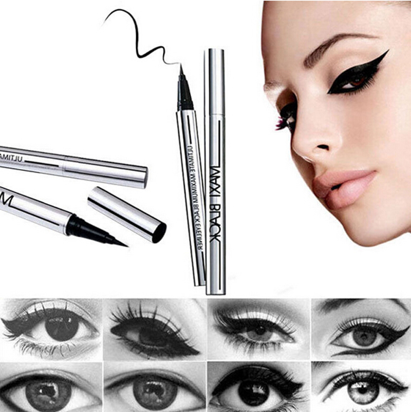 2016 Beauty Makeup Cosmetic Black Waterproof Eyeliner Long-lasting Slim Liquid Eye Liner Pen Pencil Free Shipping NA940