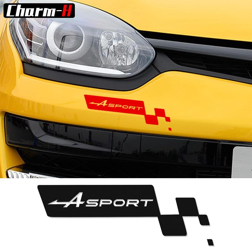 A Pair Black ////// PERFORMANCE Front Bumper Sticker Decals Sport Graphics Sticker