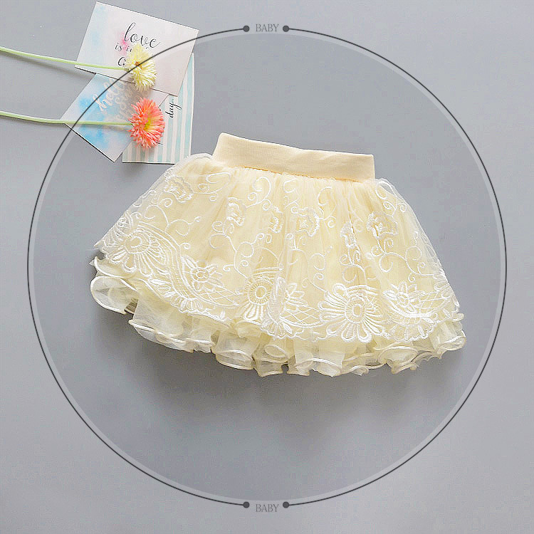 spring summer Baby Girls Child Children Tutu Mesh Flora Dance Princess Skirts S0809