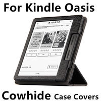 Case Cowhide For Kindle Oasis PU Protective New 2016 For Amazon eBook Reader Smart Cover Protector Genuin leather Sleeve 6''