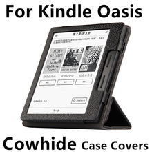 Case de cuero de vaca para oasis pu protectora nuevo 2016 para amazon kindle ebook reader smart cover protector genuin cuero de la manga 6""