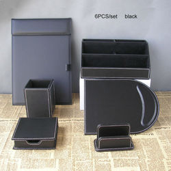 6 unids/set organizador de oficina, escritorio, papelería, portalápices, estuche archivador, carpeta a4, soporte para tarjetas, estuche para notas, organizador de escritorio K260