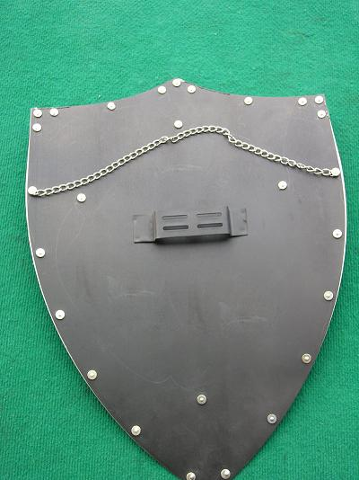 MEDIEVAL CRACK PATTERN RED CROSS CRUSADER ARMY IRON SHIELD 25.3 2