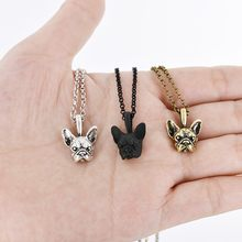 Boho French Bulldog Chain Pendant Necklaces & Pendants Jewelry for Women Sweater Necklace Men Vintage Charm Choker Party Jewelry(China)