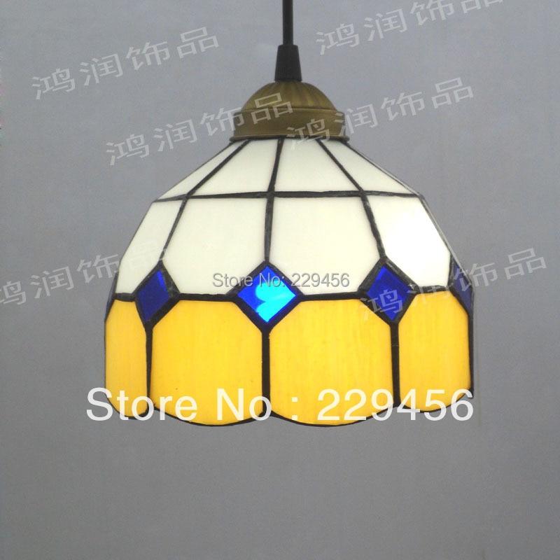 Tiffany Pendant Light Bar Cafe Dining Room Light Fixtures Mediterranean Sea Style E27 110-240V