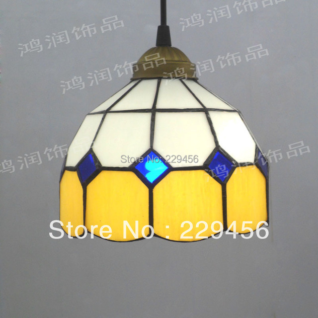 Us 47 11 15 Off Tiffany Pendant Light Bar Cafe Dining Room Fixtures Mediterranean Sea Style E27 110 240v In Lights From