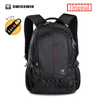 Swisswin Brand Classic Backpack For Women And Men Waterproof 15 Laptop Backpack A4 Bookbag Backpack Sac