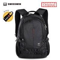 Swisswin Marchio Classico Zaino Per Le Donne e Gli Uomini Impermeabile 15 Laptop Zaino A4 Bookbag zaino sac a dos mochila masculina