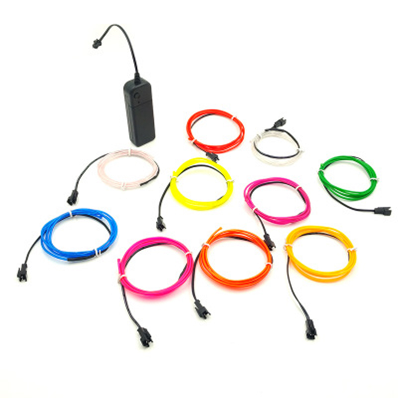 1m/2m/3m/5m Waterproof Led Strip Light Neon Light Glow El Light Line Rope Tube Cable+battery Controller For Party Car Decoration Lights & Lighting