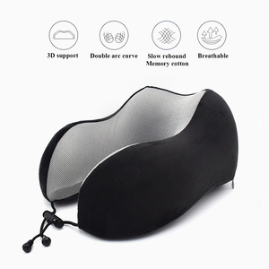 Image 4 - 1PC U Shaped Memory Foam Neck Pillows Soft Slow Rebound Space Travel Pillow Solid Neck Cervical Healthcare Bedding Drop Shipping