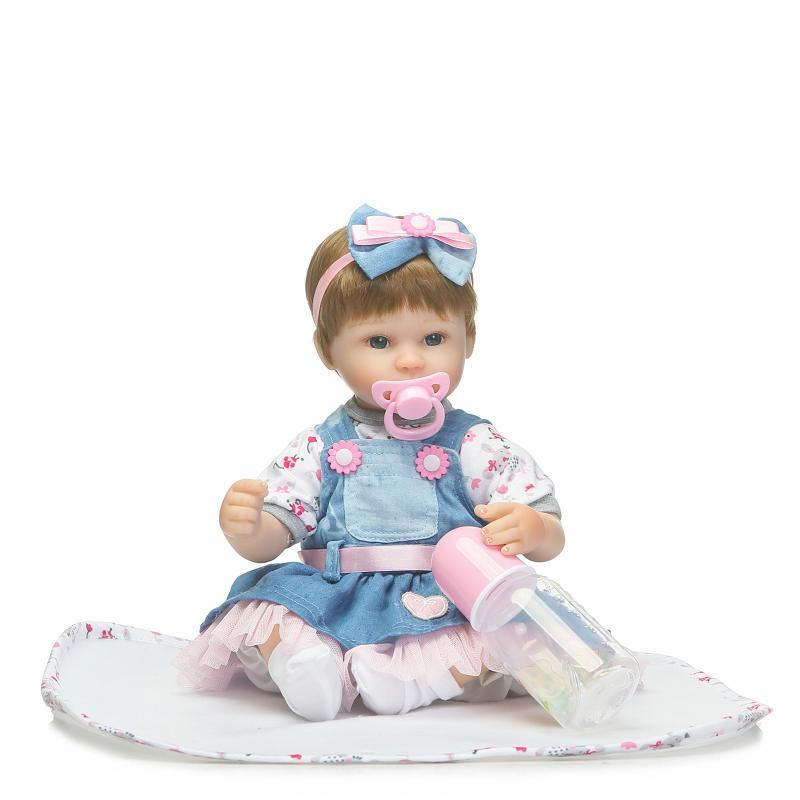 42 cm silicone renascer realista reborn baby doll crianças playmate toys presente para as meninas ano novo aniversário do corpo macio boneca reborn