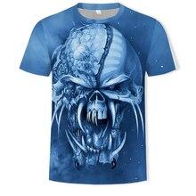 2019 Summer T Shirt Mens Hip Hop Dark  Tshirt Streetwear Heavy metal rock