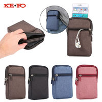 High Quality Denim Leather Universal Holster Phone Pouch Bag Wallet Case Belt Clip For Iphone 4S