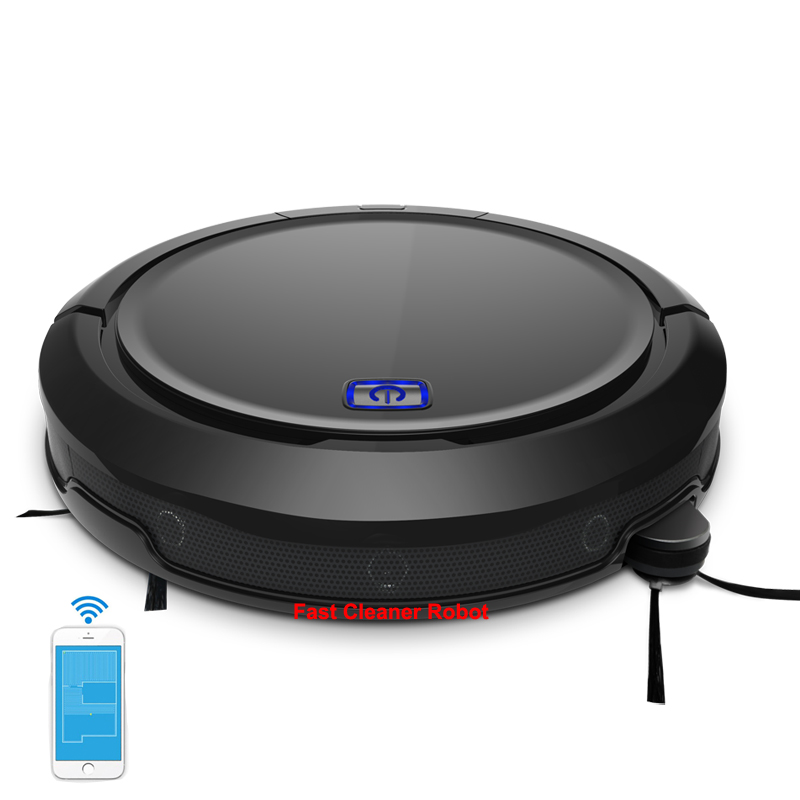 Newest Robot Aspirador Vacuum Cleaner With 3D Mapping,Smartphone WIFI APP Control,Navigation,Water Tank,Ultrasonic Sensor