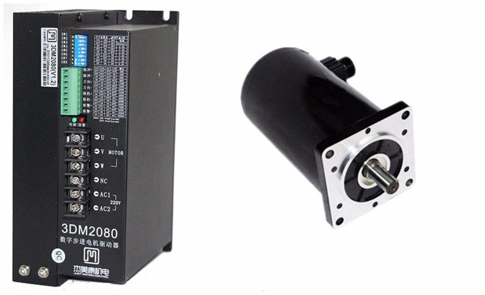 NEMA52 50Nm 7075 ozin kit driver de motor de 3 fases de passo Híbrido 130J12280-368 + 3DM2080 80-240VAC para CNC gravura de corte