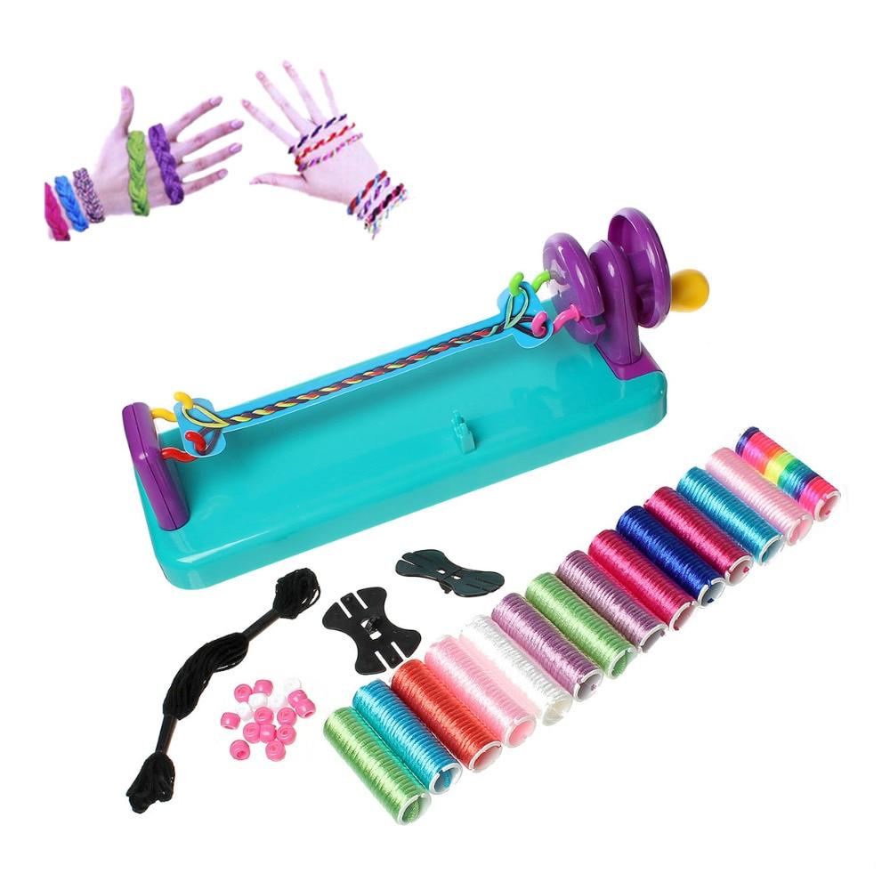 Mixed Knitting Loom Tools Wrist Twists Bracelet Braiding Kit Multicolor 26.5cm(10 3/8) x 9.5cm(3 6/8) , 1 Box