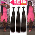 7A Top Quality Brazilian Virgin Hair Straight 3pcs Lot Brazilian Hair Weave Bundles Unprocessed Virgin Human Weave Thick & Soft