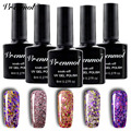 Vrenmol 20 Colors Diamond Glitter Gel Nail Polish Long-lasting Soak-Off Shimmer Shiny Nail Lacquer UV/LED Gel Polish