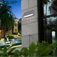 Modern Waterproof Garden Led Light Fixtures Exterior Surface Mounted Led Light Wall Scone IP54 Aluminum Verlichting