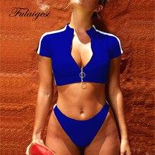 Сексуальный однотонный черный, красный, синий, зеленый комплект бикини, спортивный женский купальник 2019, купальник для серфинга на молнии, Мягкий купальный костюм, танкини, Женский комплект