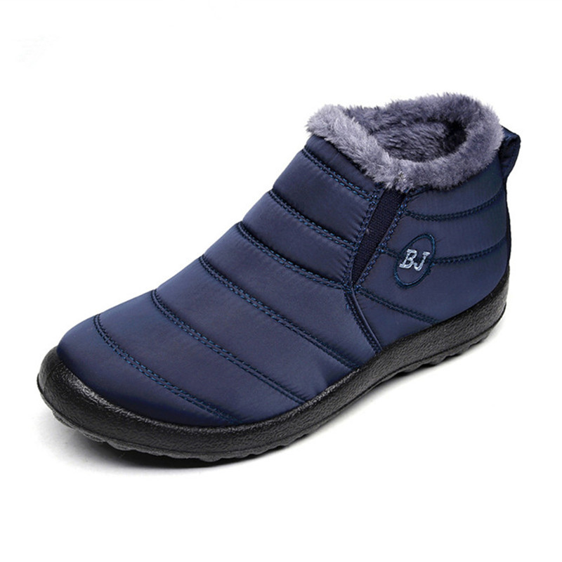 Winter Shoes Snow-Boots Waterproof New-Fashion Keep-Warm Plush-Inside Solid Antiskid-Bottom