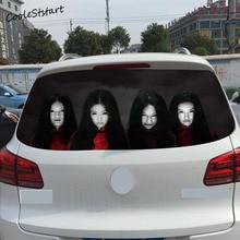 Terror Car-Styling Larga Del Coche Pegatinas 23*60 cm Moda Creativa Adhesivos Decorativos