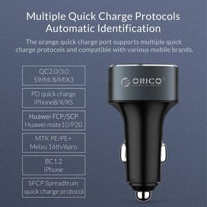 Image 5 - ORICO 33W 3 USB bağlantı noktaları hızlı şarj QC 3.0 araç şarj cihazı iPhone XR XS MAX 8 Samsung S10 şarj cihazı cep telefonu hızlı araç şarj cihazı