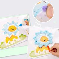 몬테소리 교육 장난감 유치원 아기 초기 학습 수제 DIY 창조적 인 종이 아트 그림 그리기 장난감 공예