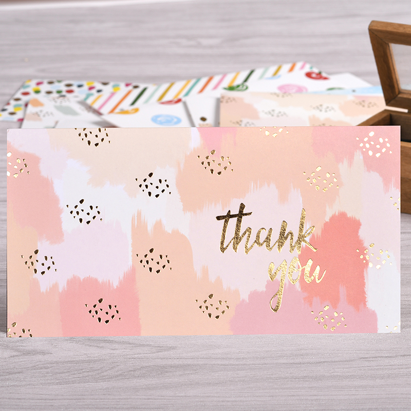 Colorful Thank You Cards Business Thank You Greeting Cards Gold ...