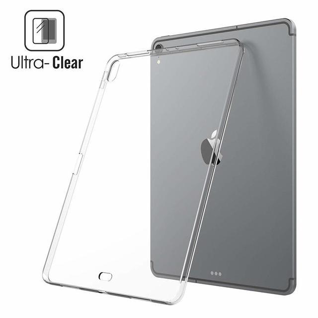 "Funda para iPad Air, iPad Pro 12,9, 2015, 2017, 360 protectora suave TPU funda para iPad 12,9 ""2018 claro Slim funda trasera de silicona A1876 A1895"