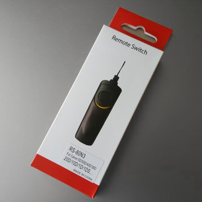 DSLR Camera Remote Control Shutter Release Switch RS-80N3 For Canon 50D 5D 5D2 7D 7D2 5D Mark III 5D Mark IV 1Ds Mark III