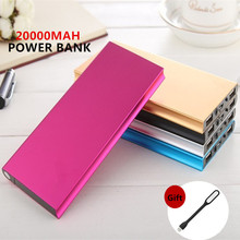 Original FOOBI 20000mAh Power Bank Ultra Slim Dual External Battery Portable Charger for iPhone/Samsung & More 5 Colors