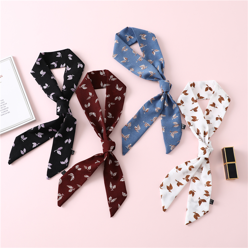 Luxury Brand Designer Small Silk Scarf Women Bag Skinny Scarves Narrow Long Decorate Belt Head Band Fashion Necktie 2019 New in Women 39 s Scarves from Apparel Accessories