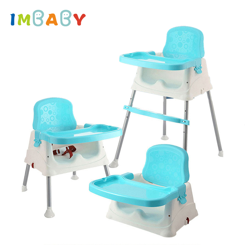 IMBABY Baby Dinner Table Detachable Feeding Chair Portable Chair Adjustable Folding Chairs Kids Highchair Seat Baby