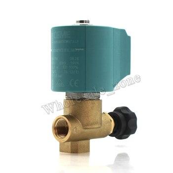 """CEME 9934 ajustable 2/2 way NC 25 Bar G1/4 """"agua aire solenoide válvula eléctrica/hierro válvula de flujo de máquina de alta temperatura"""